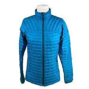 Eddie Bauer First Ascent S Small Down Jacket Blue